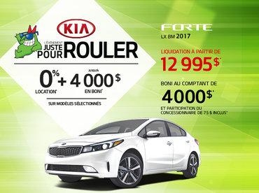 Obtenez la nouvelle Kia Forte 2017 aujourd'hui