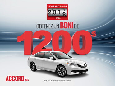 La Honda Accord 2017 en rabais!