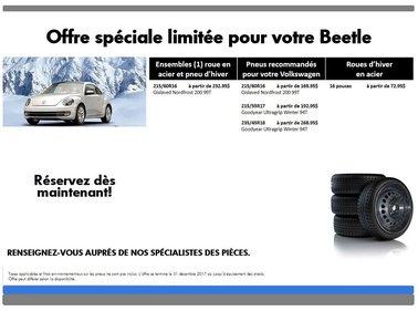 Promotion  spéciale pneus d'hiver pour votre Beetle