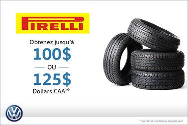 Offre sur les pneus Pirelli