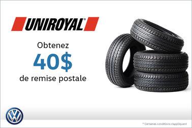 Offre sur les pneus Uniroyal