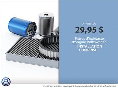 Filtres d'habitacle d'origine Volkswagen à bas prix!