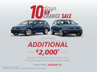10 Days to Change Sale