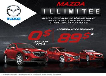 T'es rendu là avec Mazda et sa garantie illimitée!