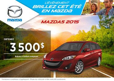 Achetez le Mazda5 GS 2015 avec rabais de 3500$