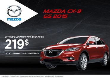 Le nouveau Mazda CX-9 2015: location à 219$ aux 2 semaines
