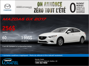 La toute nouvelle Mazda6 2017 en location!