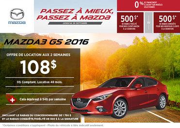 La toute nouvelle Mazda3 GS 2016