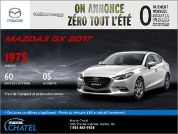 La Mazda3 2017 en location