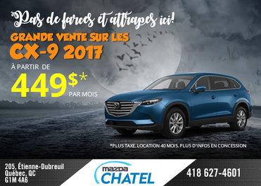 Grande vente sur les CX-9 2017