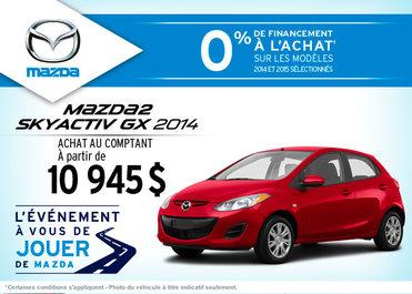 La nouvelle Mazda2 GX 2014 disponible à l'achat à  10 945$