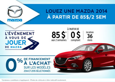 L'événement à vous de jouer de Mazda