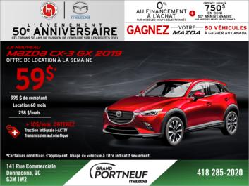 Procurez-vous le Mazda CX-3 2019!