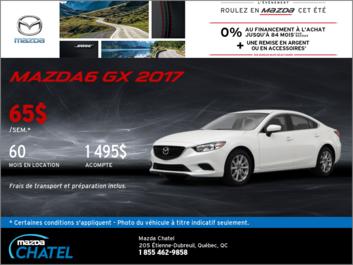 La Mazda6 GX 2017 en location!