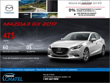 La Mazda3 GX 2017 en location