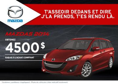 Achetez le Mazda5 GS 2014 avec rabais de 4500$