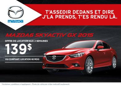 Louez la Mazda 6 GX 2015  à compter de 139$ aux 2 semaines