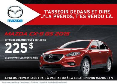 Le nouveau Mazda CX-9 en location à compter de 225$ aux 2 semaines