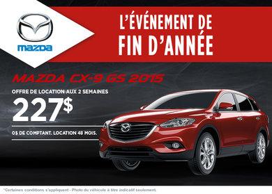 Le nouveau Mazda CX-9 2015: location à 227$ aux 2 semaines