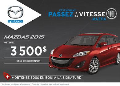 Achetez le Mazda5 GS 2014 avec rabais de 3500$