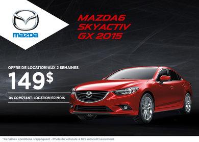 Louez la Mazda 6 GX 2015  à compter de 149$ aux 2 semaines