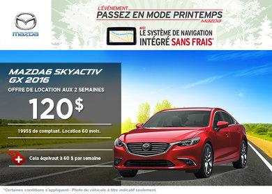 Louez la Mazda 6 GX 2016 à compter de 120$ aux 2 semaines