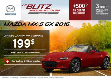 Louez la Mazda MX-5 2016 aujourd'hui!