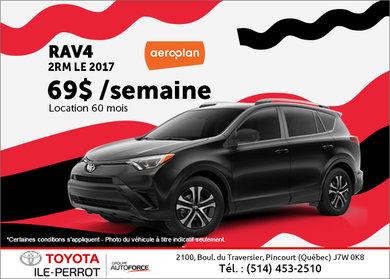 Louez le VUS Toyota RAV4 2017 aujourd'hui!