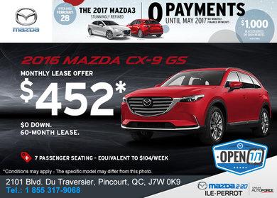 Get the 2016 Mazda CX-9 GS!