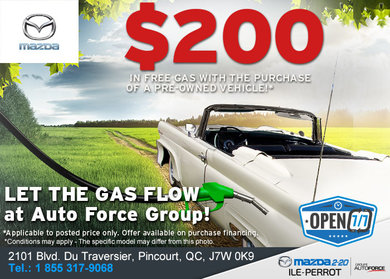Buy a Used Vehicle and Get $200 in Gas!