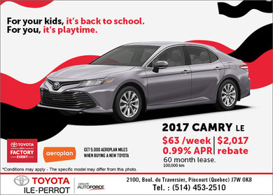 Save on the 2017 Camry!