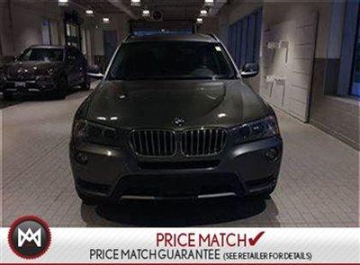 2013 BMW X3 SUNROOF, AWD, LEATHER