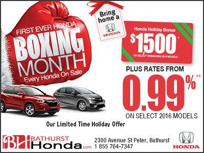 Honda's Boxing Month Sale!