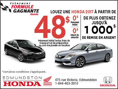 L'événement Formule Gagnante de Honda!