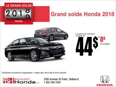 La grande liquidation 2018 de Honda!