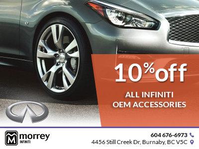 10% off all Infiniti OEM accessories!
