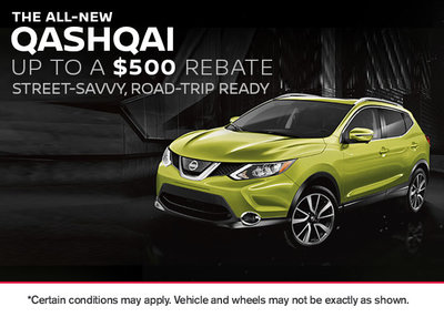 Get up to a $500 Rebate on the All-New Qashqai