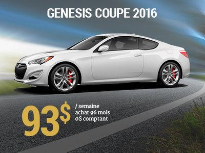 93$ par semaine pour une Hyundai Genesis Coupe 2016 chez Hyundai Trois-Rivières à Trois-Rivières
