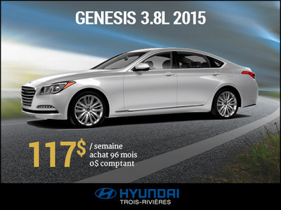 Découvrez la Hyundai Genesis 2015 3.8L à 117$/semaine  chez Hyundai Trois-Rivières à Trois-Rivières