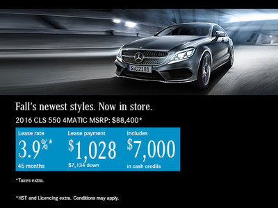 Lease the 2016 mercedes benz cls 550 today ogilvie for Mercedes benz lease payment