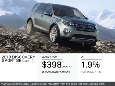 The 2018 Discovery Sport SE