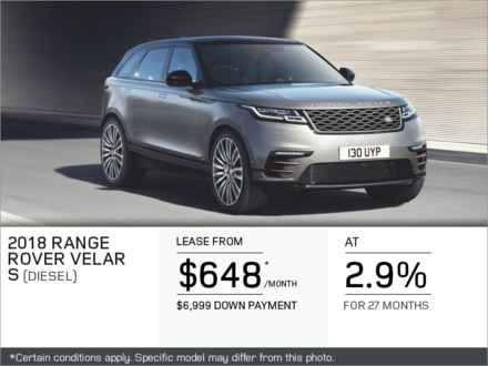The 2018 Range Rover Velar