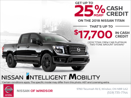 Get the 2018 Nissan Titan Today!