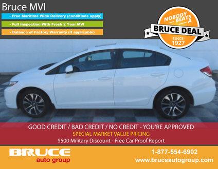 2013 Honda Civic EX 1.8L 4 CYL i-VTEC AUTOMATIC FWD 4D SEDAN
