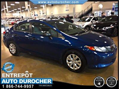 2012 Honda Civic Sdn DX, MANUELLE FINANCEMENT DISPONIBLE
