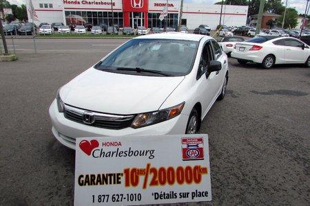 Honda Civic DX 2012 GARANTIE 10 ANS 200,000KM