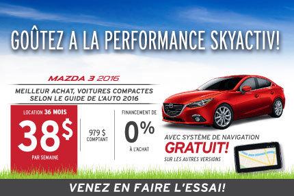 Mazda 3 2016 en location