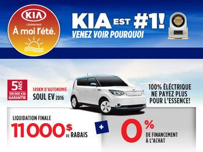 À moi l'été: La Kia Soul EV Électrique 2016