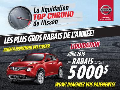 La liquidation top chrono de Nissan : Juke 2016
