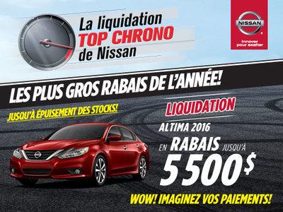 La liquidation top chrono de Nissan: Altima 2016